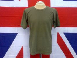 BRITISH ARMY/MILITARY OLIVE T SHIRT